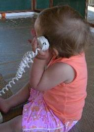 baby language development talking over phone